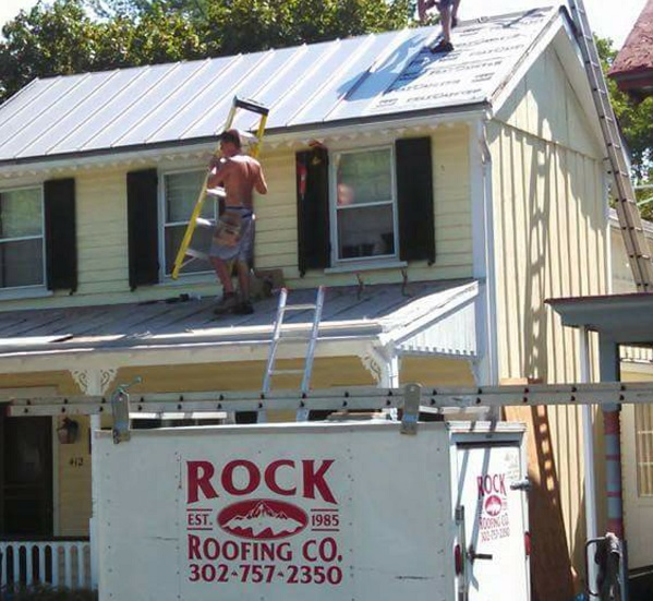 Custom Metal standing seam roof installation Chesapeake City Maryland
