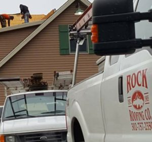 Roof replacement in progress Chesapeake City Maryland