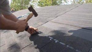 Asphalt shingles installed